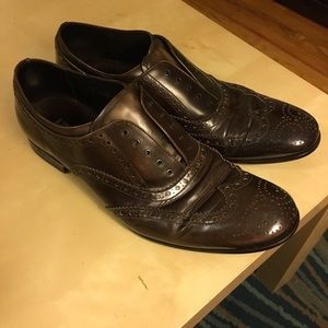 PRADA mens brogue business shoe
